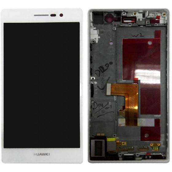 Huawei P7 / P7-L10 lcd Assemblato Con Frame Bianco