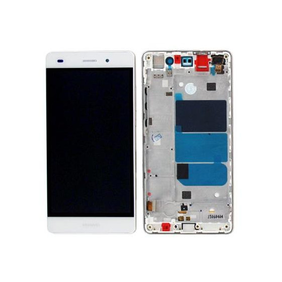 LCD + Touch Originale con Frame per Huawei P8 Lite Bianco