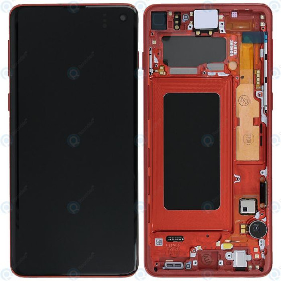 LCD display Touch Samsung G973 Galaxy S10 GH82-18850H Rosso