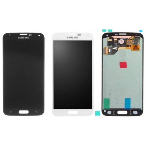 LCD+TOUCH ORIGINALE PER SAMSUNG GALAXY S5 NERO GH97-15959B