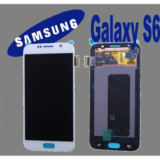 LCD + TOUCH ORIGINALE PER GALAXY S6 BIANCO GH9717260B