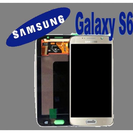 LCD + TOUCH ORIGINALE PER GALAXY S6 ORO GH97-17260C