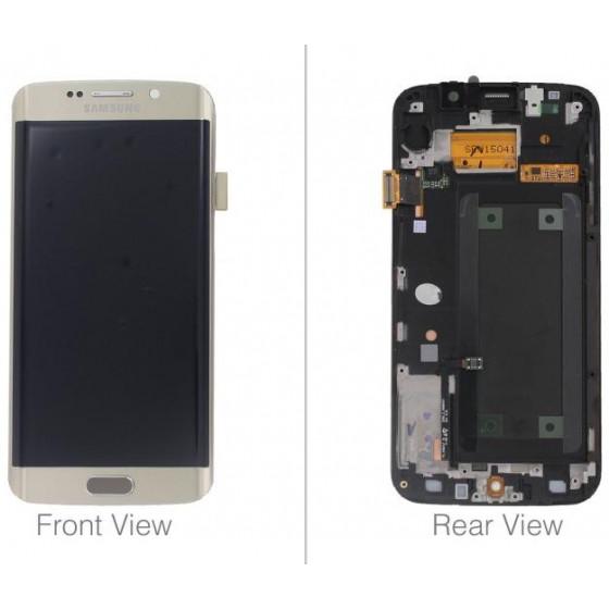 LCD + TOUCH ORIGINALE PER GALAXY S6 EDGE GOLD GH97-17162C