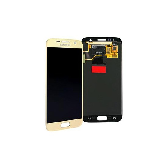 LCD + TOUCH PER GALAXY S7 ORIGINALE ORO GH97-18523C