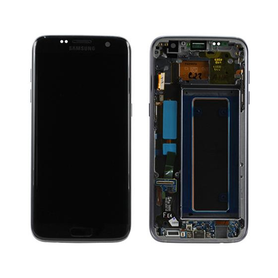 LCD + TOUCH PER GALAXY S7 EDGE ORIGINALE NERO GH97-18533A
