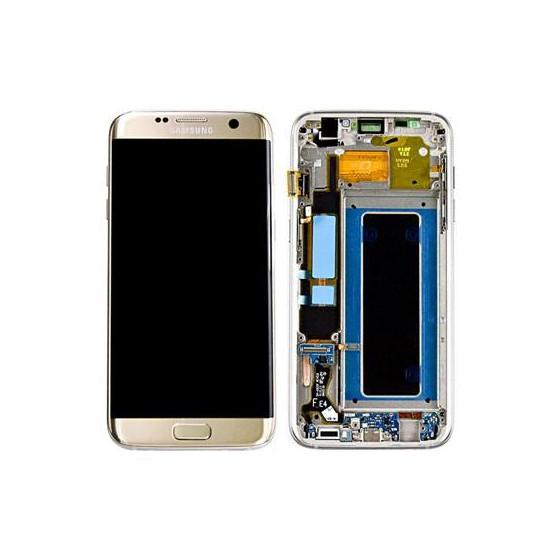 LCD + TOUCH PER GALAXY S7 EDGE ORIGINALE ORO GH97-18533C