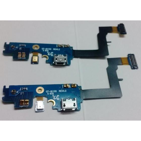 Connettore Carica USB con cavo Flat per Samsung SII i9100