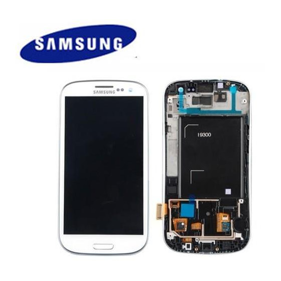 LCD + TOUCH SCREEN ORIGINALE SVC/RW PER I9300 BIANCO 13630B