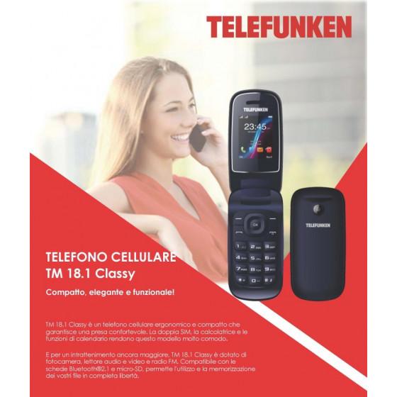 Telefono Cellulare TM 18.1 CLASSY Telefunken Dark Blu