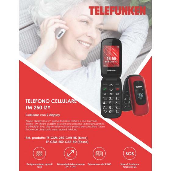 Telefono Cellulare TM 250 Nero Telefunken