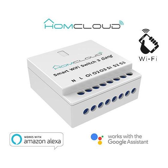 Interruttore Intelligente Wi-Fi 3 canali da incasso