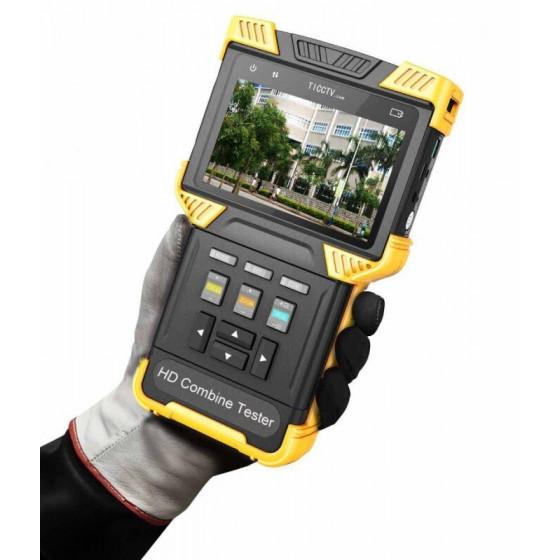 CCTV Tester IPC Onvif, 4,3'', 2 Porte LAN PoE 1 Gigabit