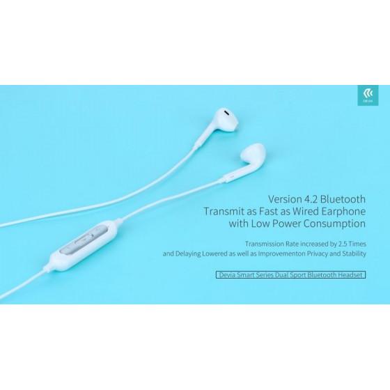 Auricolari Sport Bluetooth 4.2 Smart ultra leggeri bianchi