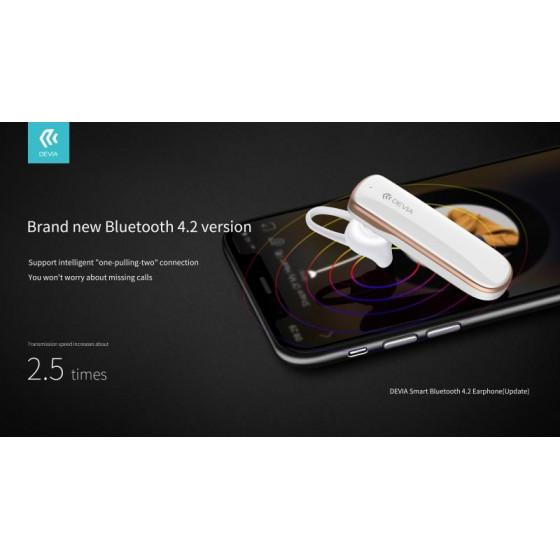 Auricolare Devia Smart Bluetooth 4.2 Riduttore Rumore Bianco