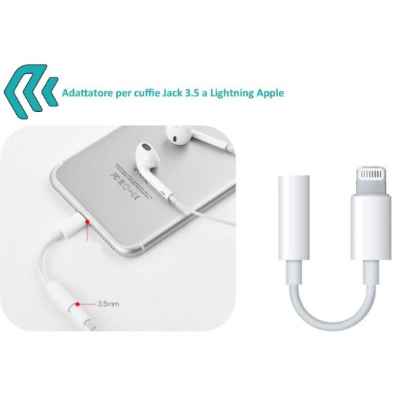 Adattatore per Audio Jack 3,5 a Apple Lightning iPhone