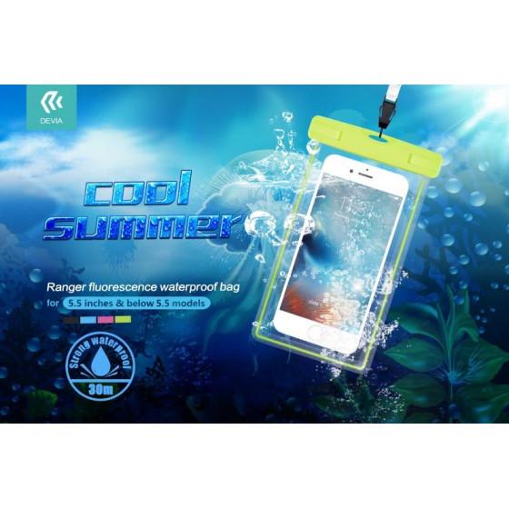 Custodia Smartphone 5.5 Fluo Waterproof fino 30 Metri Rosa