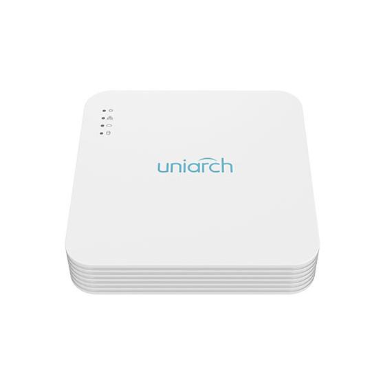 NVR Uniarch 4 Canali 2 Megapixel, Ultra265, 4 Uscite PoE