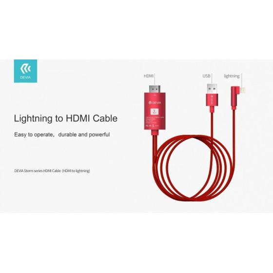 Cavo Adattatore Serie Storm da HDMI a Lightning Rosso