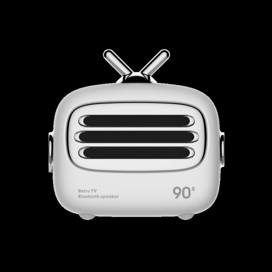 Mini altoparlante Bluetooth 4.2 vintage Bianco