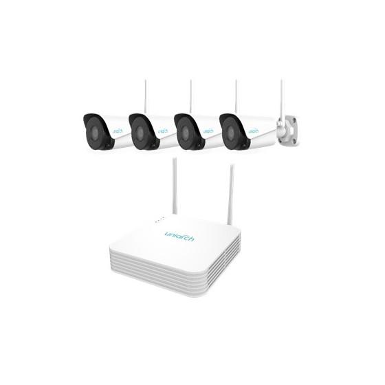 KIT UNIARCH Wifi, 4 Canali PoE Ultra 265, 4 Bullet Wifi 2MP