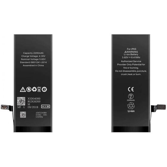 Batteria per iPhone 6S, 2200mAh, High Capacity