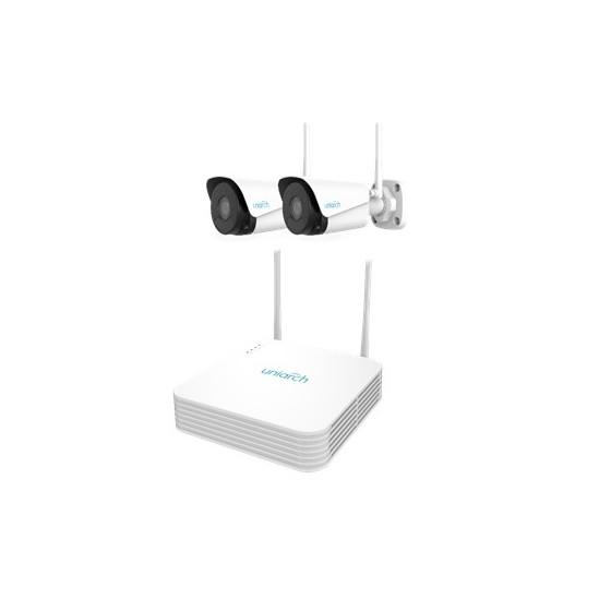 KIT UNIARCH Wifi, 4 Canali PoE Ultra 265, 2 Bullet Wifi 2MP